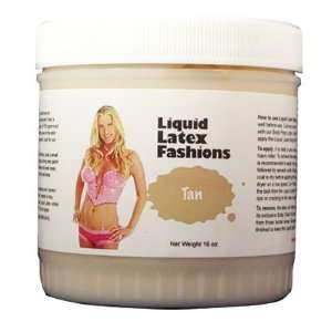 Liquid Latex Body Paint   Tan 16 oz