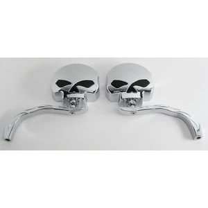 Skull Harley Davidson electra glide classic mirrors 309