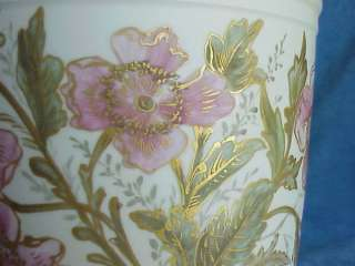 HUGE Antique Haviland Limoges CFH GDM Rose Cache Pot Jardenier Vase
