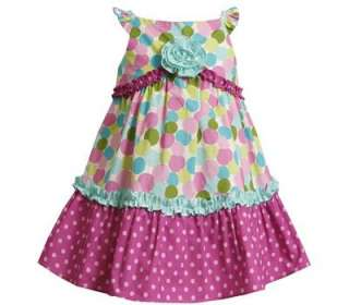 Bonnie Jean Girl Circle Print Polka Dot Summer Dress 3T
