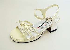 Ivory Rhinestone Girl Pageant Wedding Party Dress Shoes