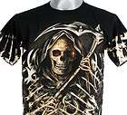 Q59 SURVIVOR GRIM REAPER DEATH SCYTHE ROCK TATTOO S/S T SHIRT L