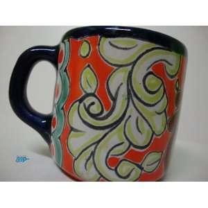 Mexican Talavera Ceramic Pottery Coffee Mug Cup Mexico Art Decor Hand