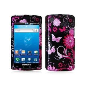 SAMSUNG CAPTIVATE i897 2D PINK BUTTERFLY FLOWER CASE