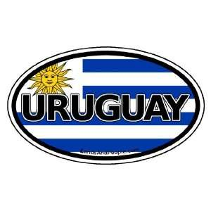 Uruguay Flag Car Bumper Sticker Decal Oval