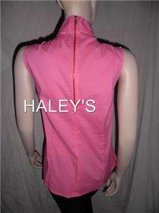 NEW ELLEN TRACY RUFFLE PINK CASUAL BLOUSE/TOP SIZE 18