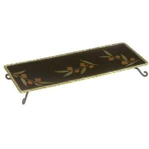 Clay Art Oliva Classico Platter With Metal Stand Kitchen