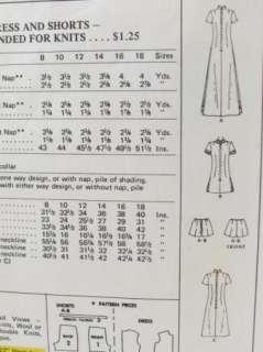McCalls 3163 Long Dress Shorts Pattern Sz 12/34 Tennis Set VTNS