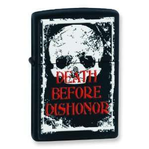 Death Before Dishonor Black Matte Zippo Lighter: Arts, Crafts & Sewing