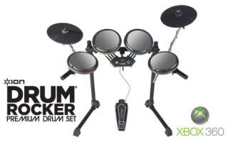 Ion Audio Drum Rocker Kit XBOX 360 IED07 Rock Band 2 855960000825