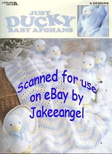 Crochet Pattern Just Ducky Baby Afghans Duck Toy New