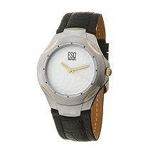 ESQ by Movado Golf Two Tone Leather Mens Watch   Sams Club