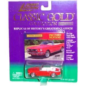 Gold Collection   1965 Ford Mustang (Red Convertible) Toys & Games