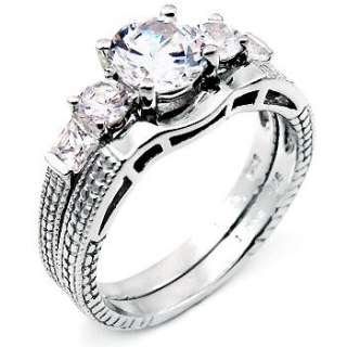 wedding day featuring a round cut high quality cubic zirconia stones