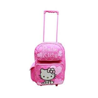 Sanrio Hello Kitty Pink Heart Large Rolling Backpack