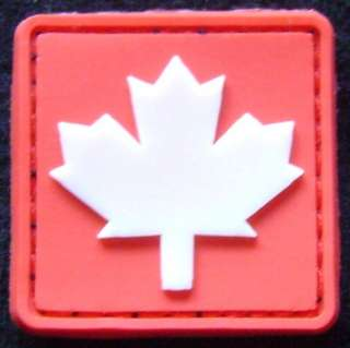 3D GLOW IN THE DARK GITD CANADA CANADIAN FLAG RUBBER PVC TRACKER