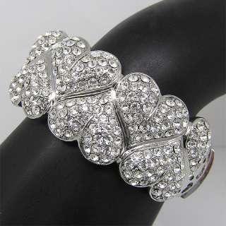 Elegant Bracelet Bangle Cuff W swarovski crystal B260