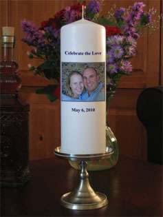 Personalized Custom Wedding Candles from Goody Candles Photo Candles