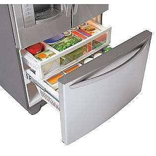 cu. ft. French Door Bottom Freezer Refrigerator, Stainless Steel  LG