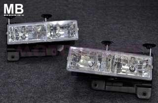 88 93 92 Chevrolet C10 Headlight Crystal Clear + Bumper Light + Corner