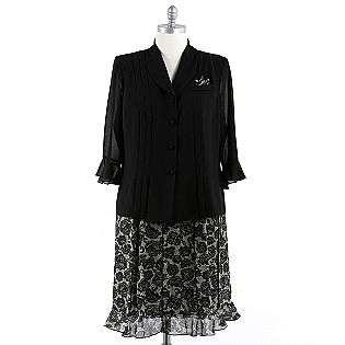Womens Plus Floral Printed Skirt Set  J Taylor Clothing Womens Plus
