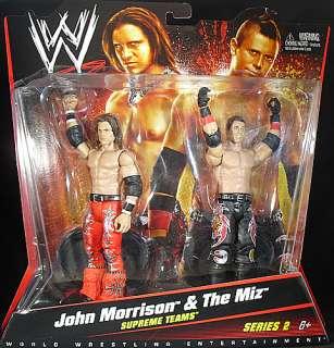 MORRISON   WWE 2 PACKS 2 MATTEL TOY WRESTLING ACTION FIGURES