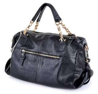 Genuine Leather Real Leather Tote Shoulder Bag Purse Hobo Handbag B171