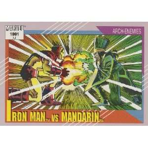 Iron Man vs. Mandarin #118 (Marvel Universe Series 2 Trading Card 1991
