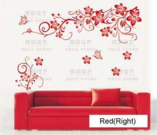 Beautiful Flowers Branch Vinyl Room Wall sticker Paper Decal EA059