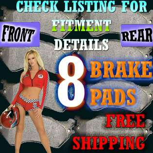 Brakes FRONT & REAR SET OF CERAMIC BRAKE PADS FITS MERCURY COLONY PARK