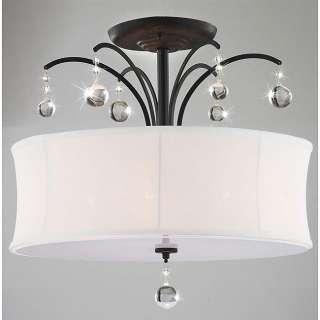 Antique Bronze Lighting White Chandelier Pendant Lamp Light Fixture