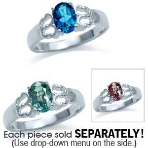 Alexandrite London Blue Topaz 925 Silver Solitaire Ring