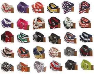 Stylish Mens Belts  Luxury O Ring Cotton Canvas Cargo Belt  40