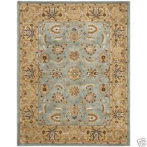 10 Hand tufted Mahal Blue/Gold Wool Area Rug