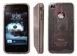 iPhone 4 4G Carbon Fiber Skin Sticker Protector Black