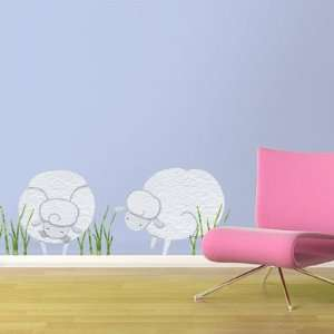 Large Sheep Wall Stickers   Removable & Repositionable Wall Decals