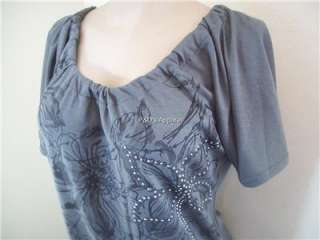 Womens Miss Royal T Maternity Gray Shirt Top S M L