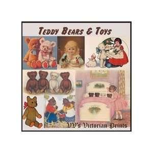 Teddy Bears & Toys   Restored Vintage Art on Image CD