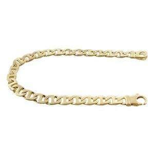 New Original Mens Handmade Link Bracelet 14k Solid Yellow Gold 7mm 8