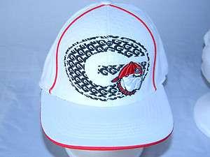 Georgia Bulldogs Hat Mens M/L Ball Cap NCAA College white Baseball NEW