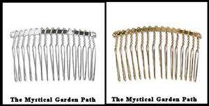 Gold OR Silver Plated Wire Hair Comb *Just Wrap w/Beads