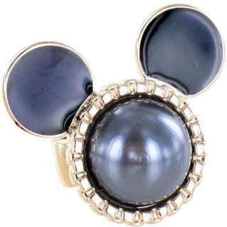 Disney Couture Mawi Mickey Mouse Grey Pearl Ring
