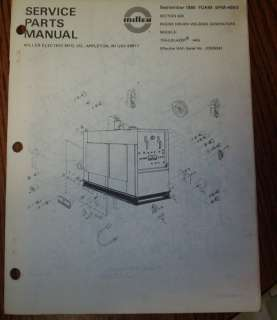 Miller Trailblazer 44G Welder Parts & Schematics Catalog Manual Book