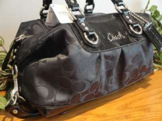 NEW COACH $298 ASHLEY SIGNATURE PATENT LEATHER SATCHEL 15443 PURSE BAG