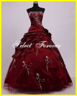 2012 In Stock A line Sweet 15 16 Beads Prom Quinceanera Gowns Dresses