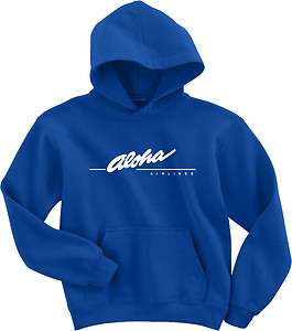 Aloha Airlines Vintage Logo US Hawaiian Airline Hoody