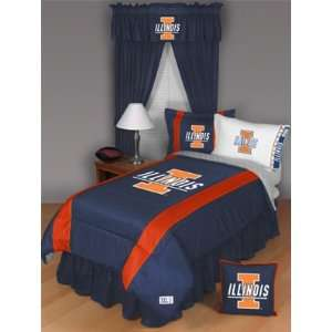 Illinois Fighting Illini S/L Twin Comforter Memorabilia
