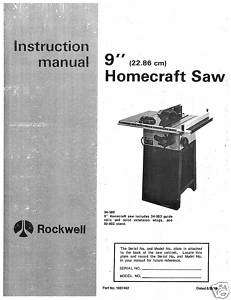 Delta Table Saw Model 34 580 Instruction Manual