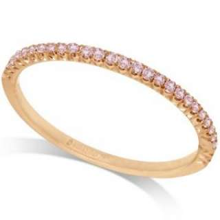 Hidalgo Pave` Pink Diamond Eternity Ring 18k Rose Gold
