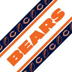 NFL CHICAGO BEARS Football Peel Stick WALL BORDER ROLL